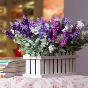 Dream Garden New European pastoral fancy purple lavender bedroom, living room placed artificial flowers dried flowers silk flower - Taobao
