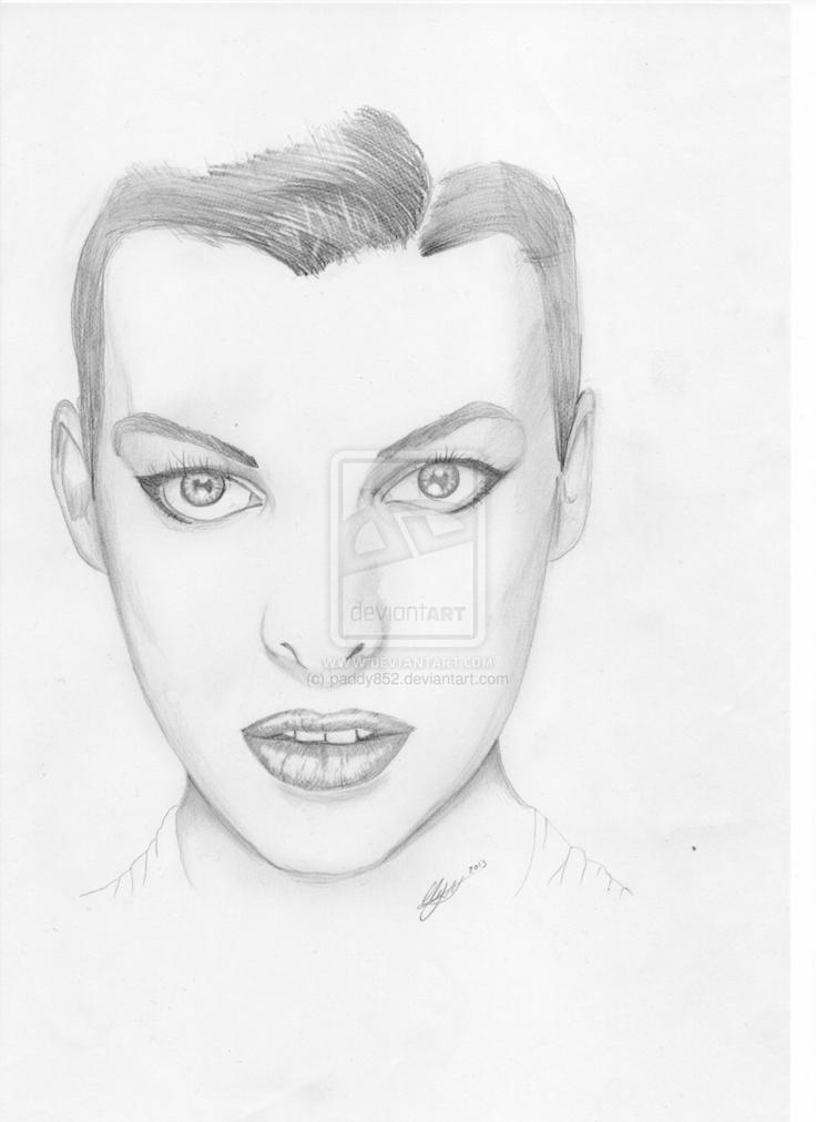 milla jovovich Portrait by paddy852.deviantart.com