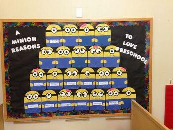 Minion Bulletin Board Template -- FREE!!