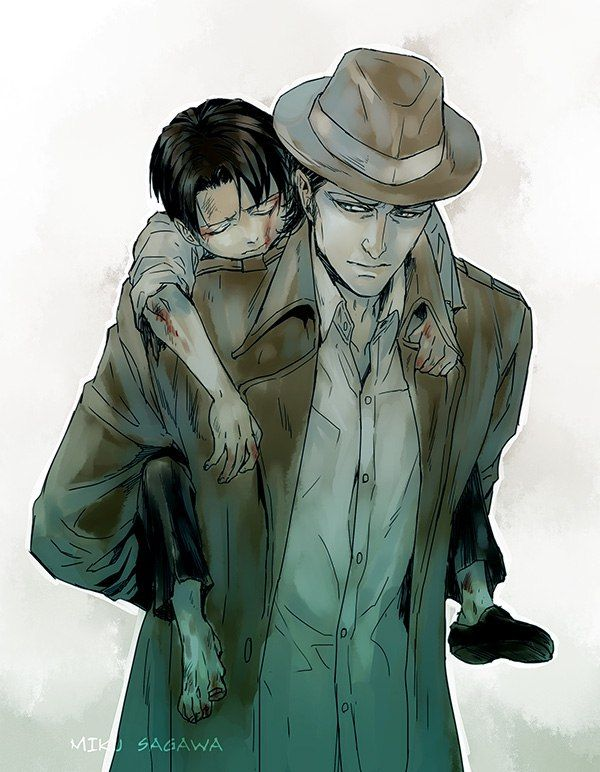 Omg, it looks like Levi got hurt and Kenny is feeling guilty about it, this is really good | little Levi and Kenny | SNK