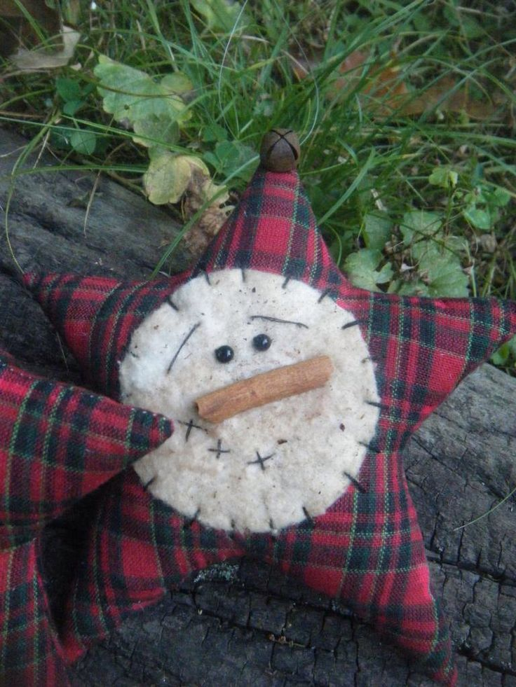 pRiMiTiVe ChRiStMaS SnOwMaN sTaR TRIM-a-TREE oRniE set FAAP by EHPrimitives on Etsy https://www.etsy.com/listing/208823706/primitive-christmas-snowman-star-trim-a