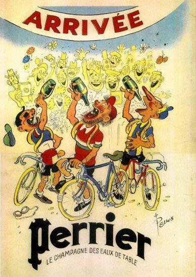 Publicités anciennes - Reproductions - Perrier - Pieds Nickelés Pschitt Perrier