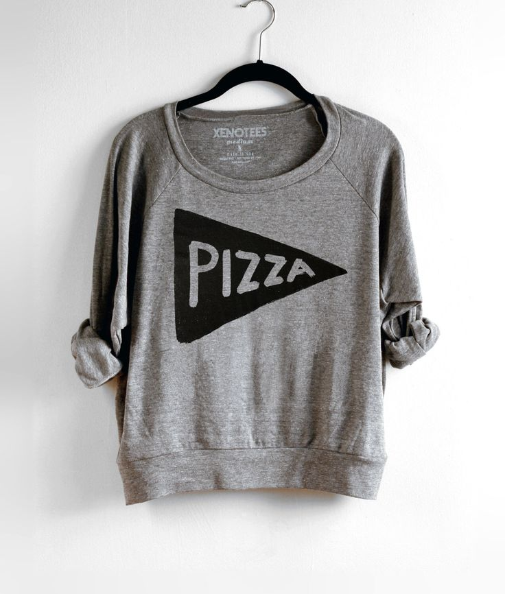 Slouchy Womens Pizza Party Lightweight Sweatshirt / Pullover, back to school, brunch clothes, college kid pizza lover gift for women or teen by Xenotees on Etsy https://www.etsy.com/listing/209176960/slouchy-womens-pizza-party-lightweight