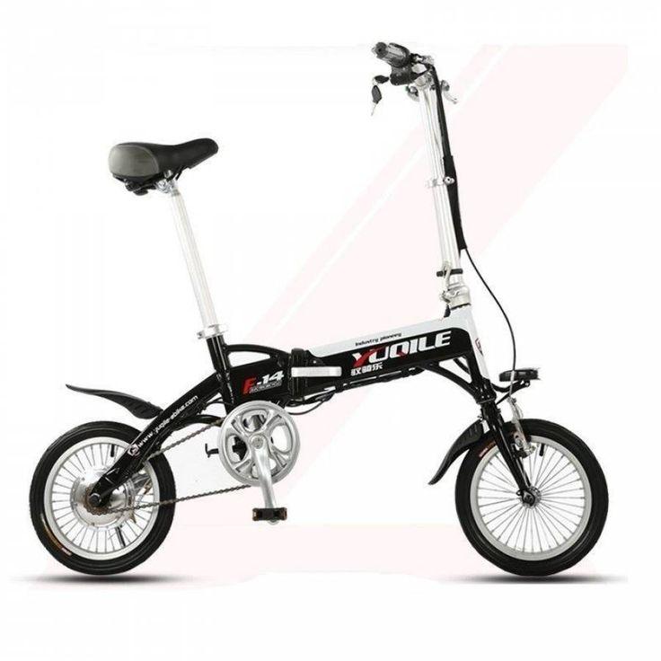 Latest Unique Mini 14 inch Folding Foldable Aluminium Electric Bike Ebike With Lithium-ion Battery 36V 8Ah http://www.jtautoparts.com/latest-unique-mini-14-p.html