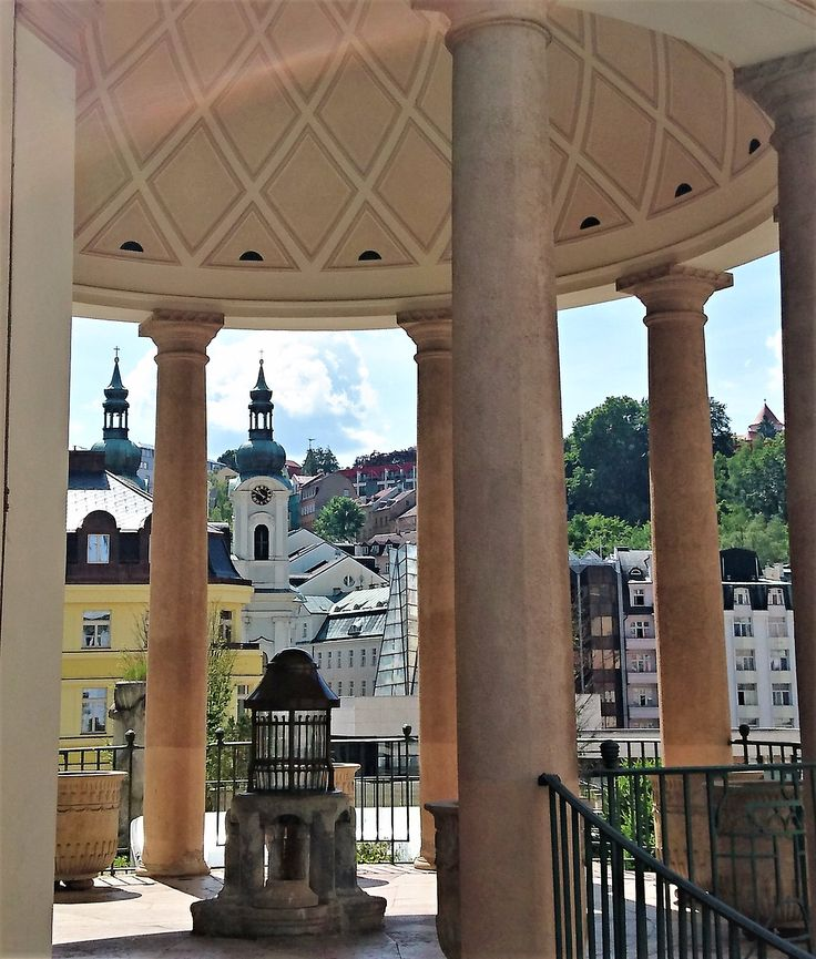 The famous spa-town (hot springs) of Karlovy Vary where all the who is who are coming.
