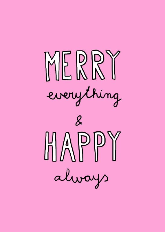 Xmas kaart Merry Everything