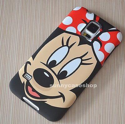 Black Cute Disney minnie Fullbody hard case cover for samsung galaxy S5/4 note3