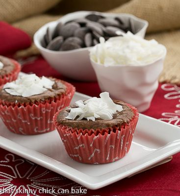 Mounds Brownie Cupcakes | http://thatskinnychickcanbake.com