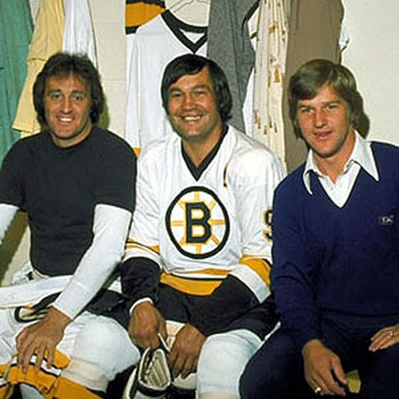 1974- Phil Esposito, John Bucyk ,  and Bobby Orr.  I Went to most games back then at Boston Garden!  Great team!!!!!!!!!!!!!