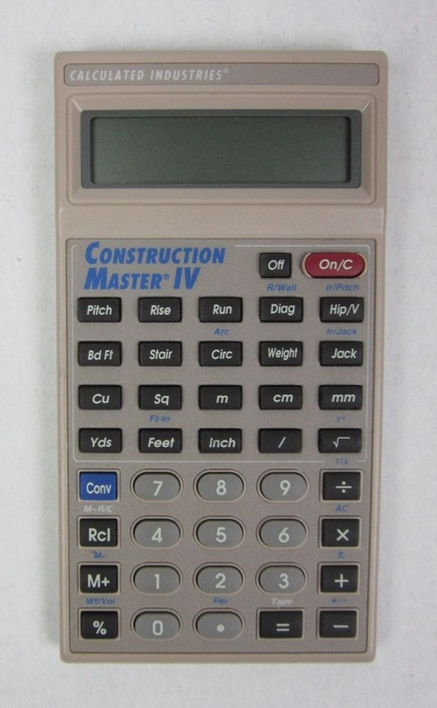 Construction master iv calculator material cost estimator Building materials cost calculator