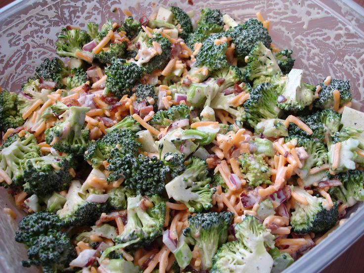 This Skinny Broccoli Salad is one of my all time favorites! Super simple to make and is great any time of year!