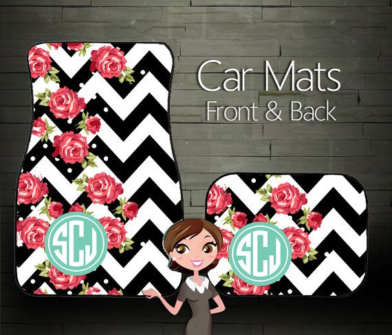 Custom Car Mats Personalized Car Mats by BoutiqueMonogram on Etsy