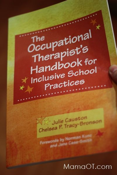 The school-based occupational therapy book EVERY school OT needs to know about! Seriously such a useful resource. #pediOT #schoolOT
