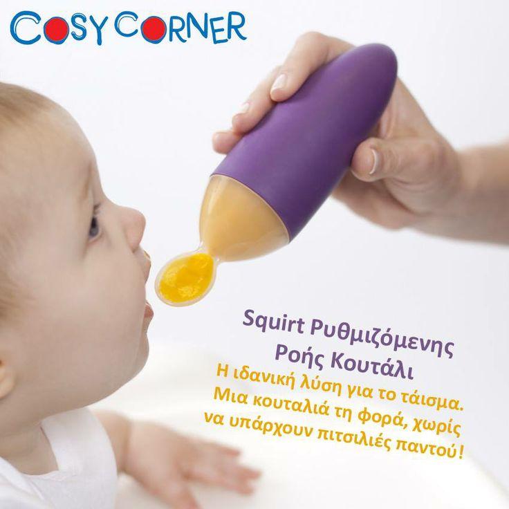 Η ιδανική λύση για το τάισμα. Μια κουταλιά τη φορά, χωρίς να υπάρχουν πιτσιλιές παντού! http://www.cosycorner.gr/el/category/ταξίδιβόλτα/squirt-ρυθμιζόμενης-ροής-κουτάλι/