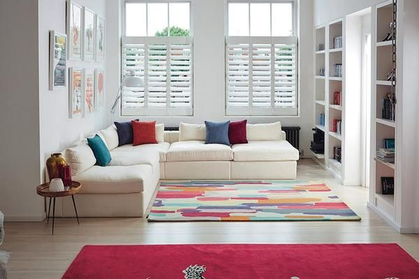 The Harlequin Trattino Berry Designer Modern Wool Rug is perfect to add a touch of colour to your living room
