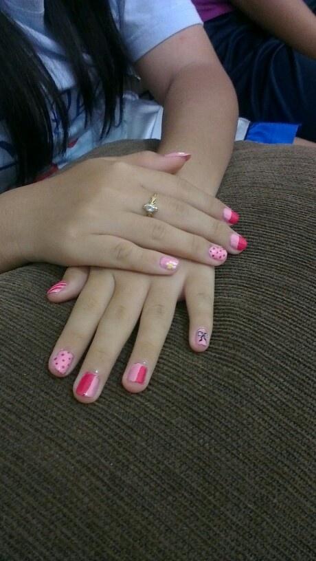 Cutesy Doosy Pink  Simple Nail Art