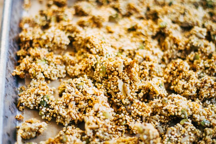 Perfectly Clumpy Vegan Granola w/ Sprouted Quinoa (Grain-Free)
