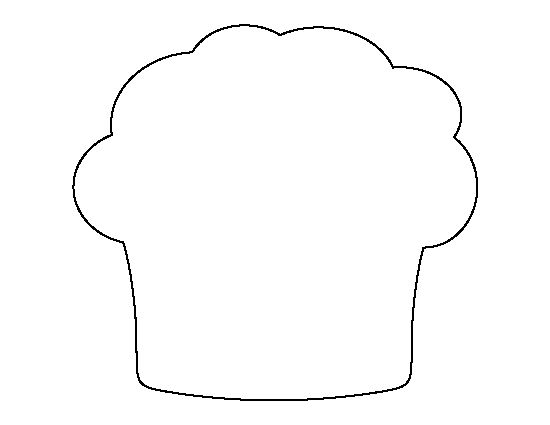 Muffin Pattern Use The Printable Outline For Crafts Creating