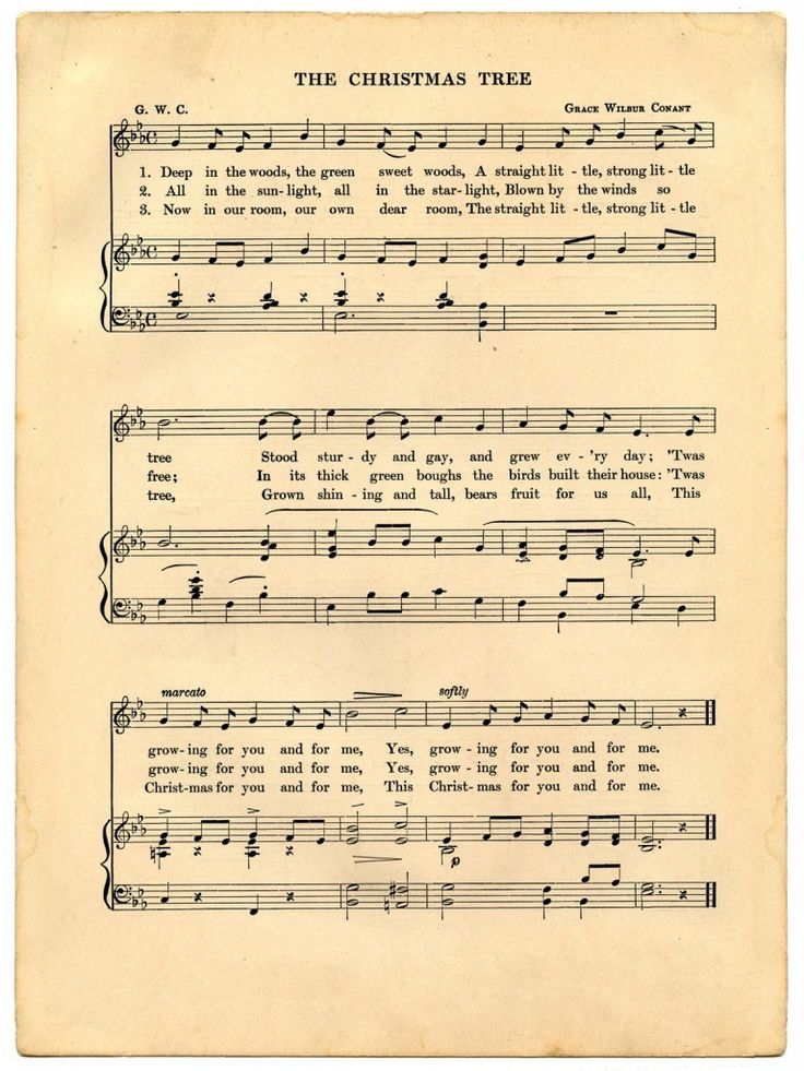 Vintage Christmas Sheet Music Printable great for Holiday Craft Projects!