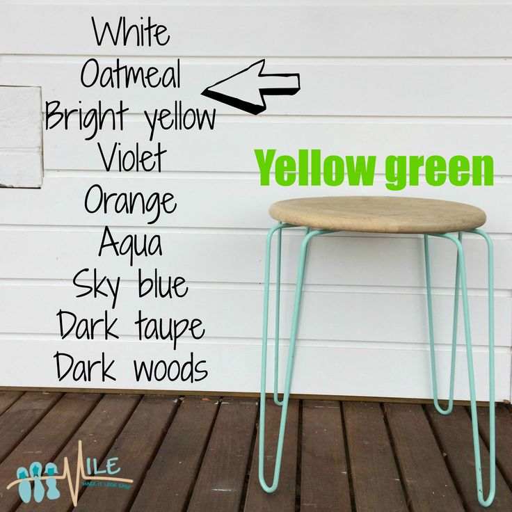 Yellow green goes with...