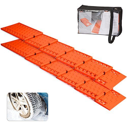 Jumbl All-Weather Foldable Auto Traction Mat Tire Grip Aid, Best Snow Chain Alternative, Anti Spinning Snow Grabber, Ideal To Unstuck Your Car From Snow, Ice, and Mud, w Bonus Storage Pouch (2 Pack). For product info go to:  https://www.caraccessoriesonlinemarket.com/jumbl-all-weather-foldable-auto-traction-mat-tire-grip-aid-best-snow-chain-alternative-anti-spinning-snow-grabber-ideal-to-unstuck-your-car-from-snow-ice-and-mud-w-bonus-storage-pouch-2-pack-2/