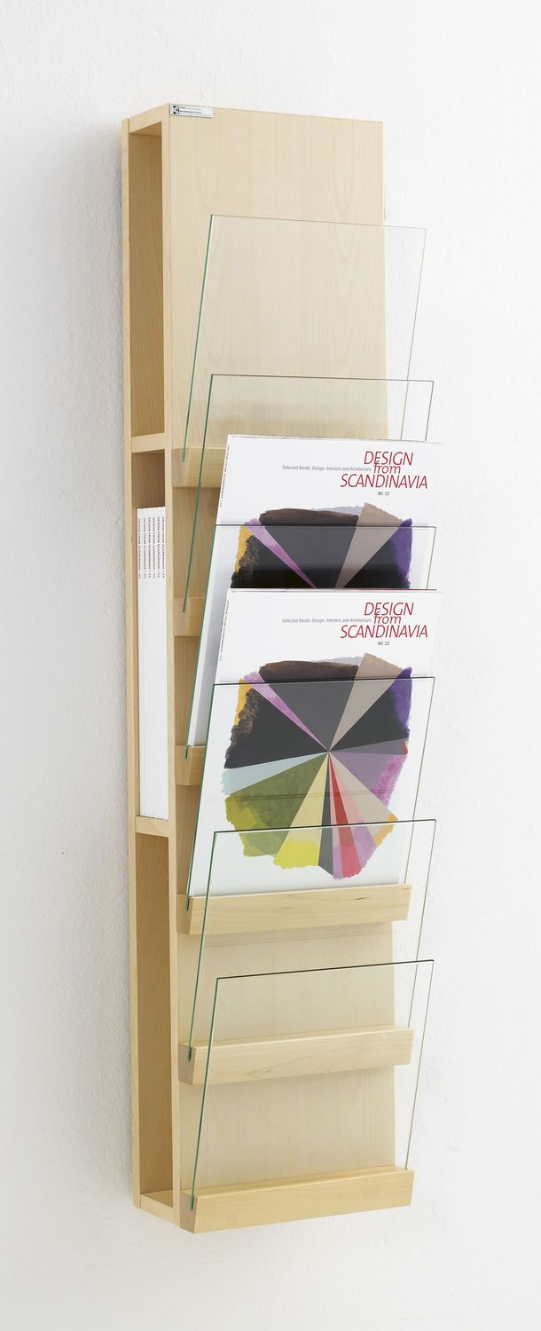 Wall-mounted display rack / periodicals - FRONT by L.Pettersson & L.Notman - KARL ANDERSSON