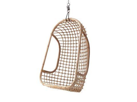 HKL | Hanging Rattan Chair Natural | The Banyan Tree Furniture