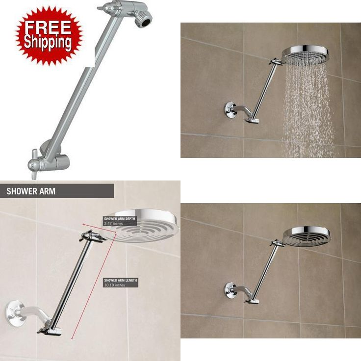 Adjustable Shower Arm, Head Control Of Your Shower  Chrome #DELTAFAUCET