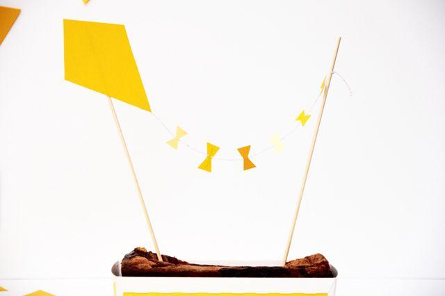Cute kite cake topper