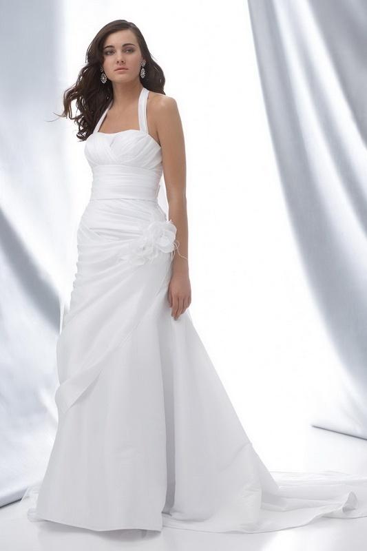 Ruffles Wedding Dresses Informal
