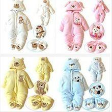 kış tarzı yenidoğan bebek tulum güzel karikatür uzun kollu warmful bebek için kıyafet çocuklar tırmanma giyim 1pc tz053