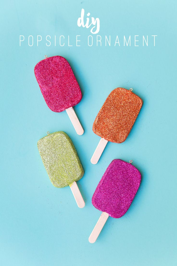 Ice cream ornaments - Learn How To Make These Easy And Fun Diy Popsicle Ornaments