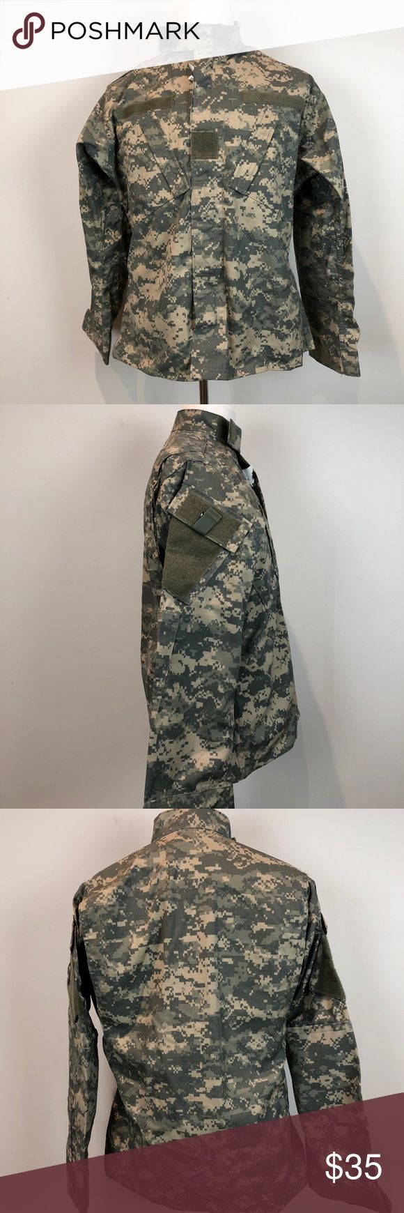 US Military (US Army) pixelated Camo Jacket Brand new, never work military zip/Velcro top. Great for those serving currently or in the reserves who do monthly training. Not active or in the reserves? Great for fashion or for those who want to dress up.  *military Patches obviously not included* * NOT fitted * US Army Jackets & Coats Lightweight & Shirt Jackets
