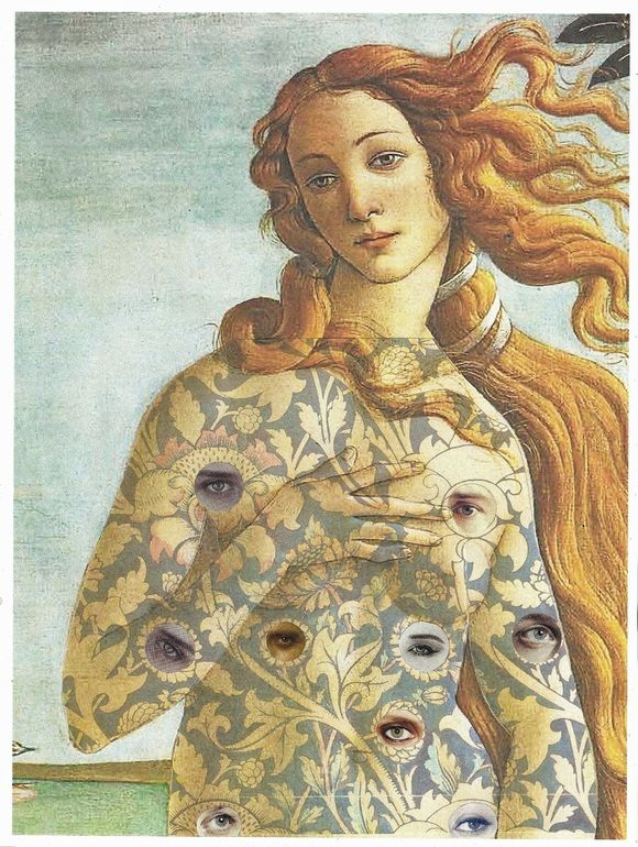 "Saatchi Online Artist: Lynn Skordal; Paper, 2012, Assemblage / Collage ""Tattoo You"""