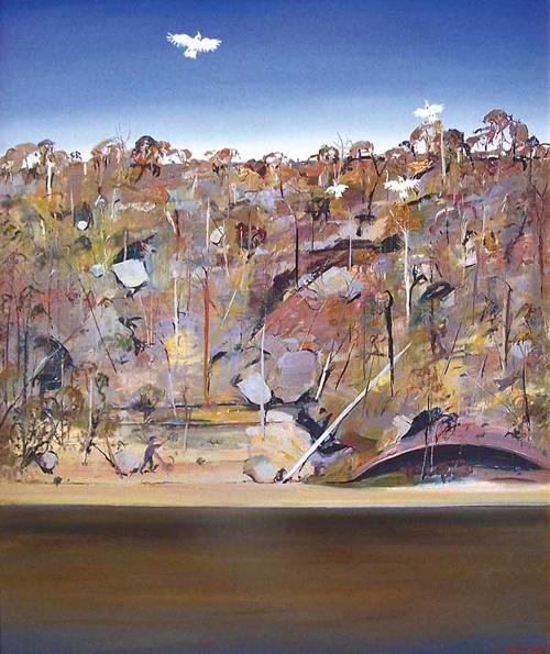Arthur Boyd. Bird Poacher and Cockatoo. Part of the Shoalhaven City Art Collection.  http://www.shoalhavenartscentre.com.au