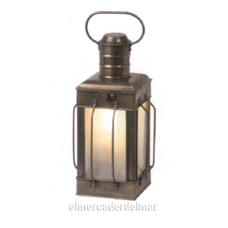 Lámpara náutica latón