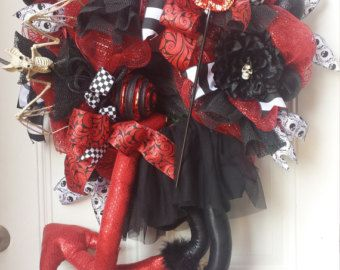 XXL Halloween Witch Wreath by KBWreaths on Etsy