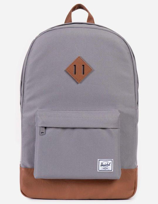daae366bb8 HERSCHEL SUPPLY CO. Heritage Grey Tan Backpack - GRAY - 10007-00061 ...