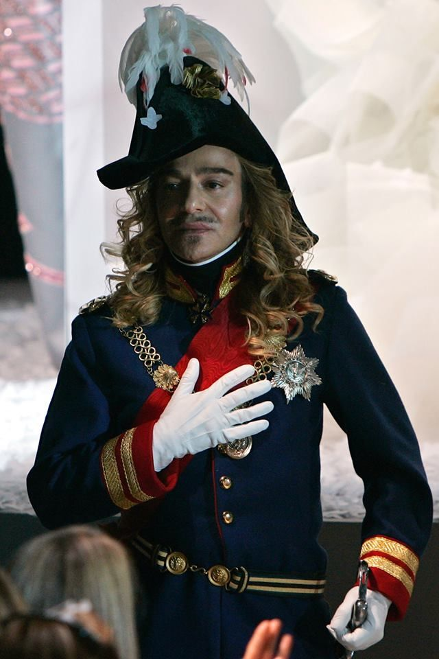 British Vogue - John Galliano's comeback interview with Charlie Rose is to be made into a puppet show called Little John