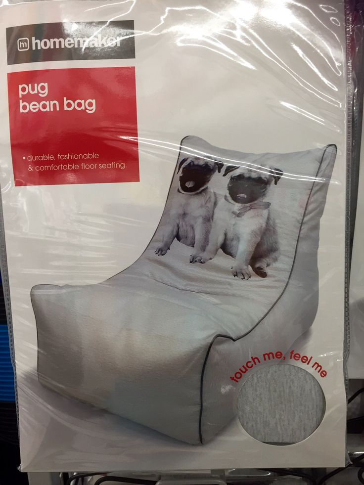 Pug Bean Bag Chair Kmart 25 Possibly Two Bags Of Beans To Fill
