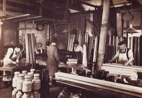 The polishing room. Snooker heritage collection.