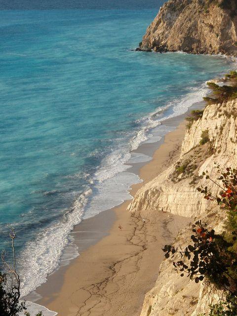 The breathtaking Εgremni beach at Lefkada island ~ Greece