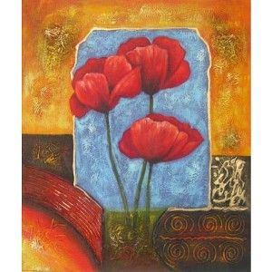 Obraz - Červené květy