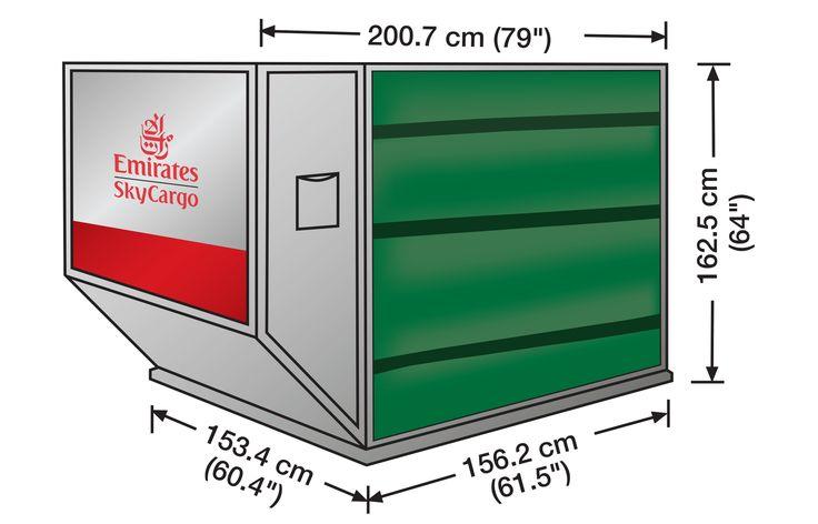 LD3 (AKL Contoured Ultralite weight Container)    Volume: 4.3 cubic metres   Standard Tare Weight: 56 kgs.   Max Gross Weight:1,587 kgs.   Door Curtain: Green colour
