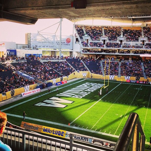 http://instagram.com/globegeneral Over 28,000 people at Investor's Group Field for the pre-season game with the Winnipeg Blue Bombers vs the Toronto Argonauts!  The weather was perfect although the traffic was not... there were some great plays and a few moments to stand up and really cheer on the Blue!  Good times!