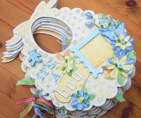 Scrapbook album for a baby boy - Two Peas in a Bucket
