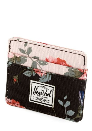 Funds and Roses Wallet. Your cash and cards will be safely guarded - not to mention beautifully kept - in this garden-print wallet from Herschel Supply Co. #blackNaN
