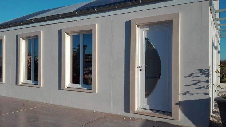 plaquettes d 39 encadrement en b ton lisse habillage des ouvertures de fa ade plaquettes d. Black Bedroom Furniture Sets. Home Design Ideas