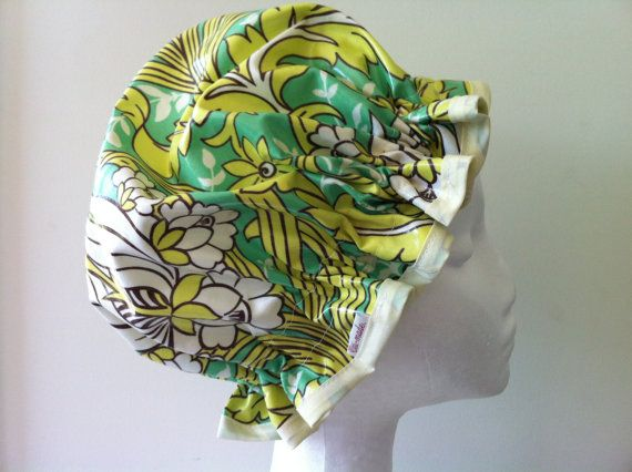 Vintage Style Shower Cap. Handmade.  PVC & BPA Free. by PureHaven, $22.99