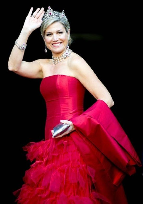 Dutch Queen Maxima received the Diplomatic Corps for the annual gala dinner. The dinner was held at the Royal Palace in Amsterdam, 14.05.2014